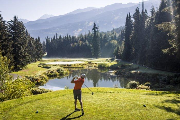Golfer at Whistler Golf Club in Summer - Photo by Justa Jeskova