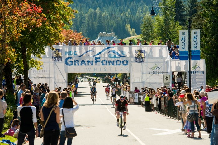 RBC GranFondo Whistler Finish Line - Photo by Mike Crane
