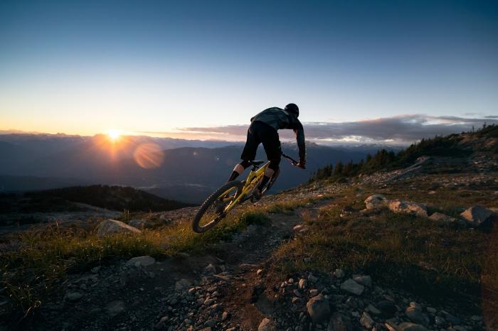Mountain Biker in Whistler - Photo by Robin O'Neill